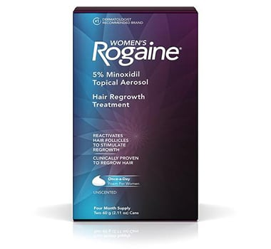 4 Month Supply Rogaine Women Once-A-Day Foam 5% Minoxidil Hair Loss