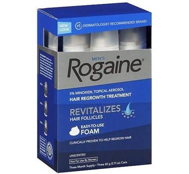 3 Months Supply Rogaine Foam Minoxidil 5% Men Hair Loss