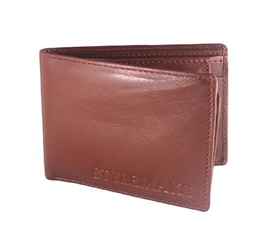 STYLEMAKE Formal TAN Colour Purse – Premium and Best Wallets for Men / Gents – Genuine Leather – 10 Card Holder Slots – 2 Bills Slots