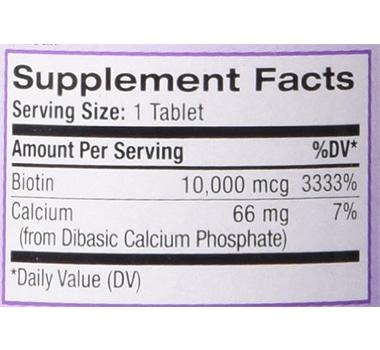 Natrol Biotin 10,000 mcg Maximum Strength 100-Count – Hair Regrowth Supplement