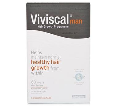 Viviscal Man #1 Hair Dietary Supplements for Thinning Hair Vitamins Hair Supplements for Men Great for Thinning – Balding Hair, 60 tabs