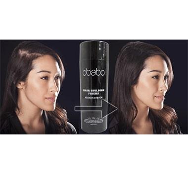 OBABO Hair Loss Building Instant Hair Fibers Dark Brown